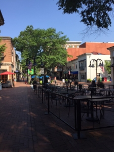 dining on the downtown mall