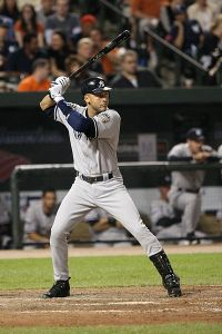 Derek Jeter batting image from Wikipedia.