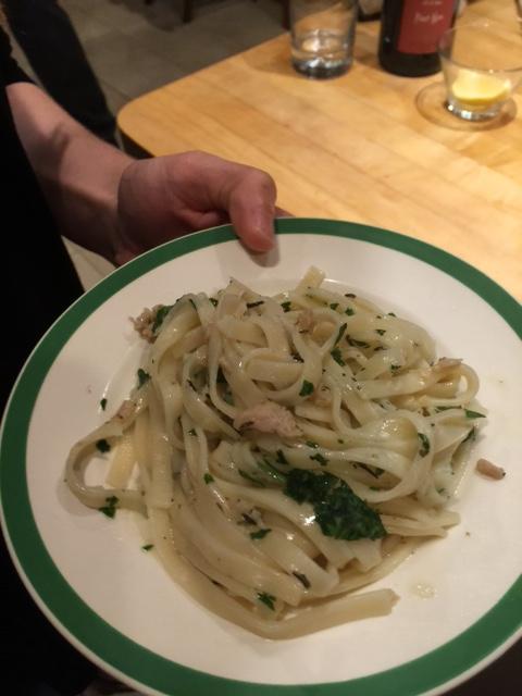 GF Linguini clam sauce